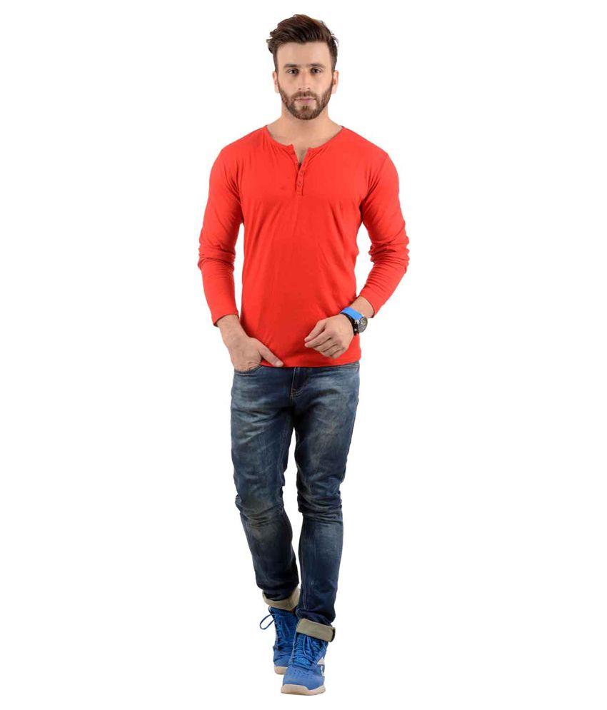 Radbofin Red Cotton T-Shirt