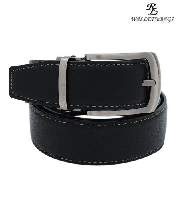 WalletsnBags Decent Black Belt