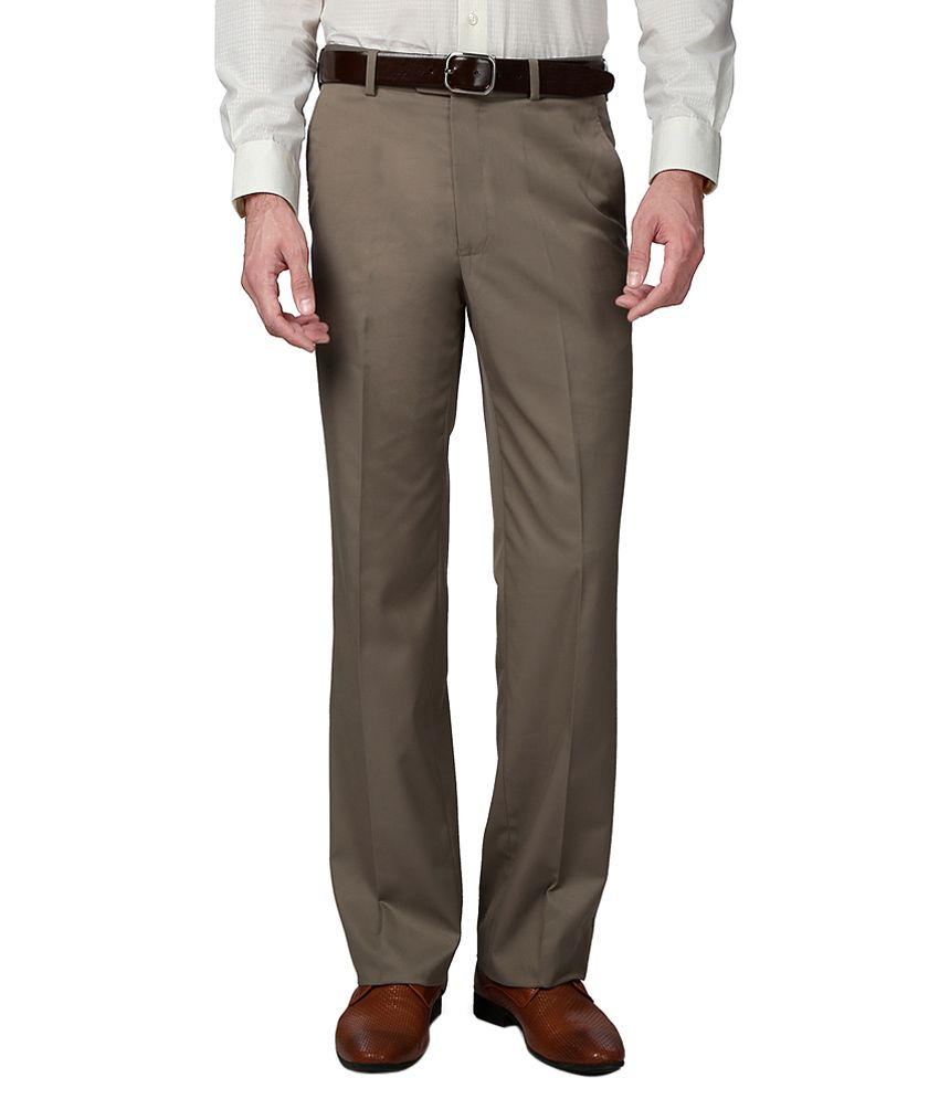 Van Heusen Grey Regular Fit Formal Trousers