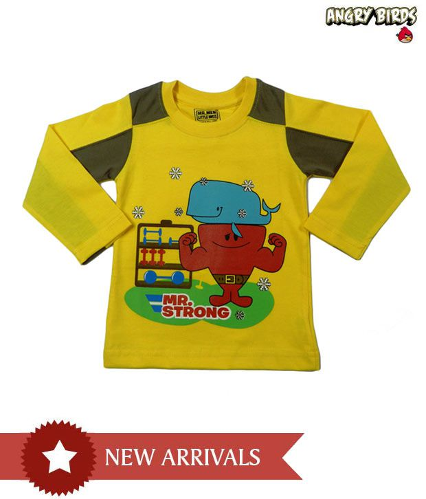Mr men little miss yellow boys t shirt for kids buy mr for Yellow t shirt for kids