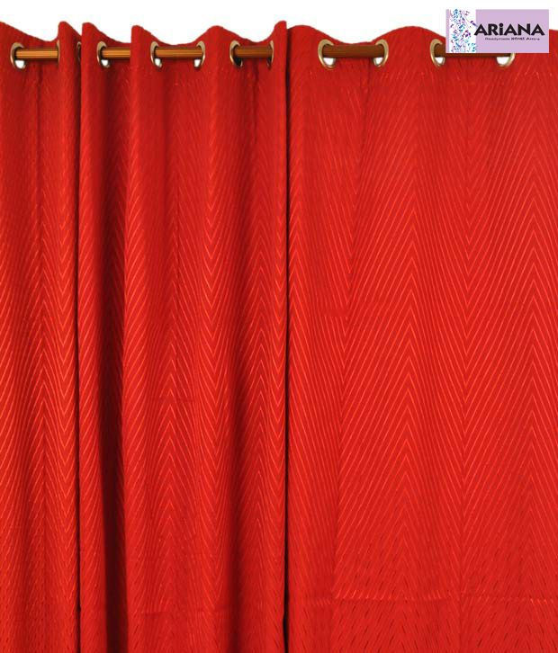 ARIANA Venus Red Window Curtains Solid Red