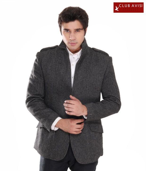 Club Avis USA Elegant Dark Grey Men Jacket