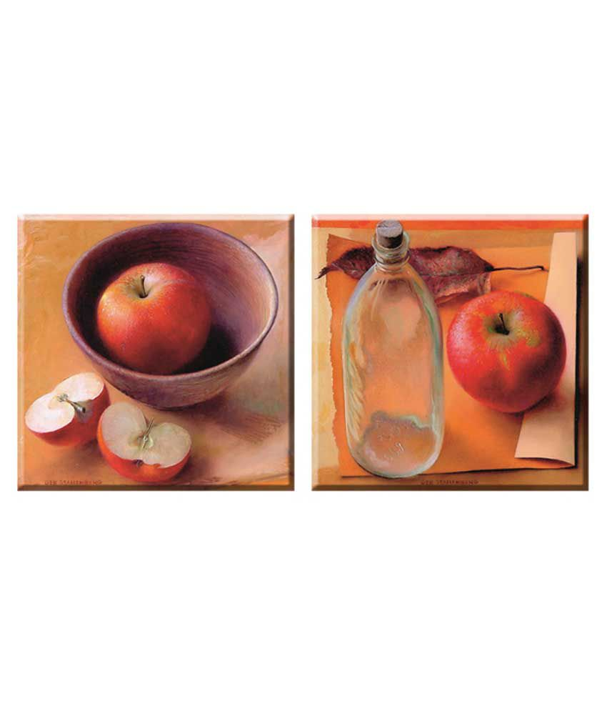 Elegant Arts & Frames Stretched Canvas Art 8 x 8 - Set of 2