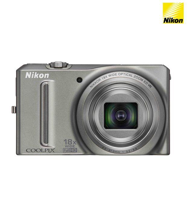 Nikon Coolpix S9100 12.1MP Point & Shoot Digital Camera (Silver)