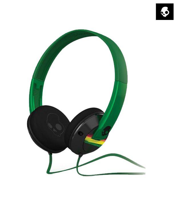 Skullcandy Uprock 2.0 S5URDZ-217 Over Ear Headphones (Green) With Mic