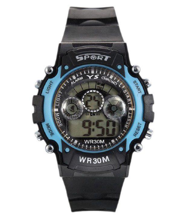 Ecbatic Black Digital Watch