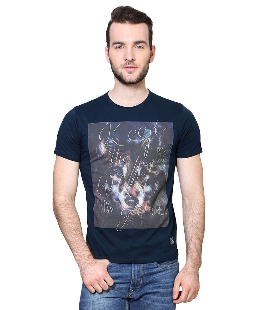 Van Heusen Navy Round Neck T Shirt