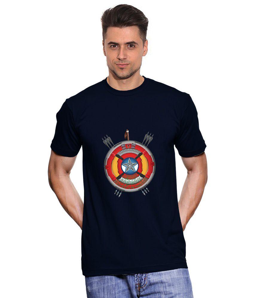 Fanideaz Navy Cotton T-shirt