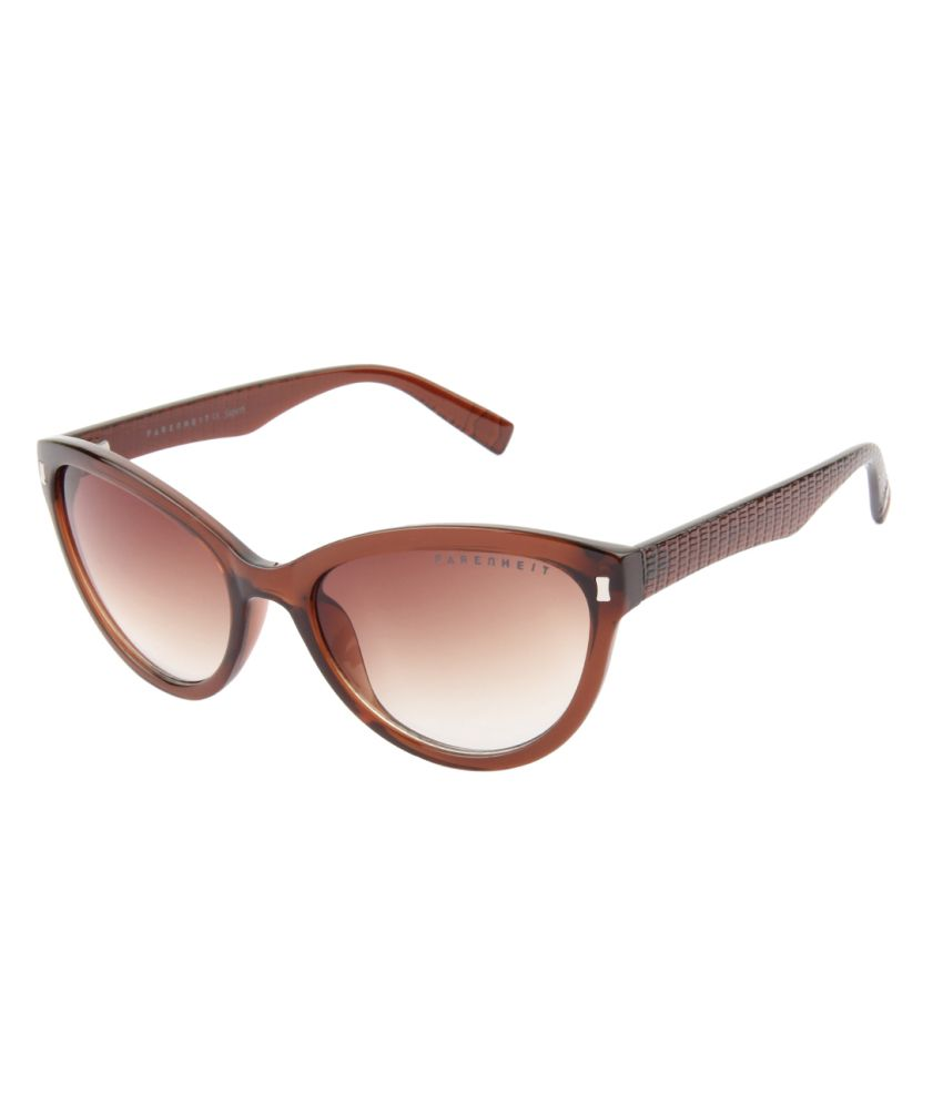 Farenheit Brown Medium Cat Eye Sunglasses For Women
