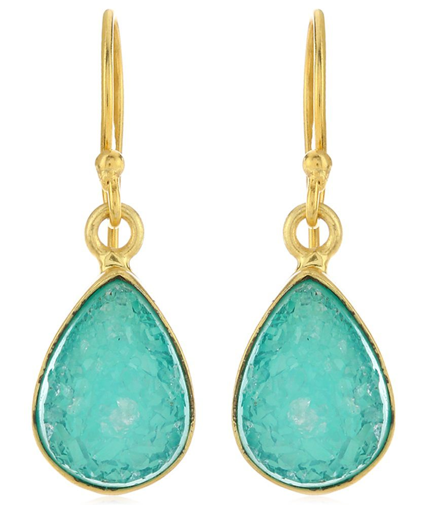 Kayesha Golden Brass Drop Earring
