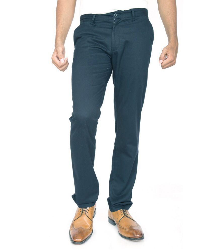 Masterly Weft Grey Regular Chinos Trouser