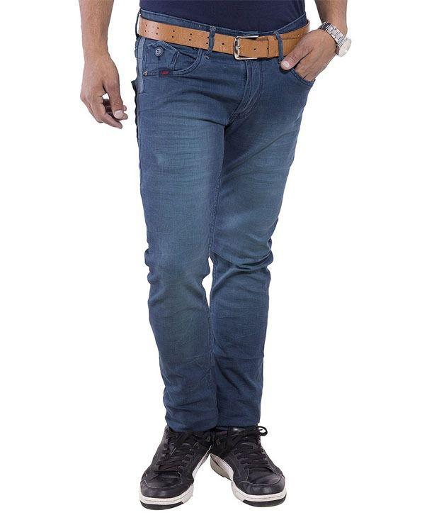 Urban Faith Blue Regular Fit Jeans