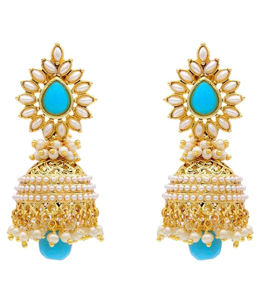YouBella Bollywood Style Blue Jhumki Earrings