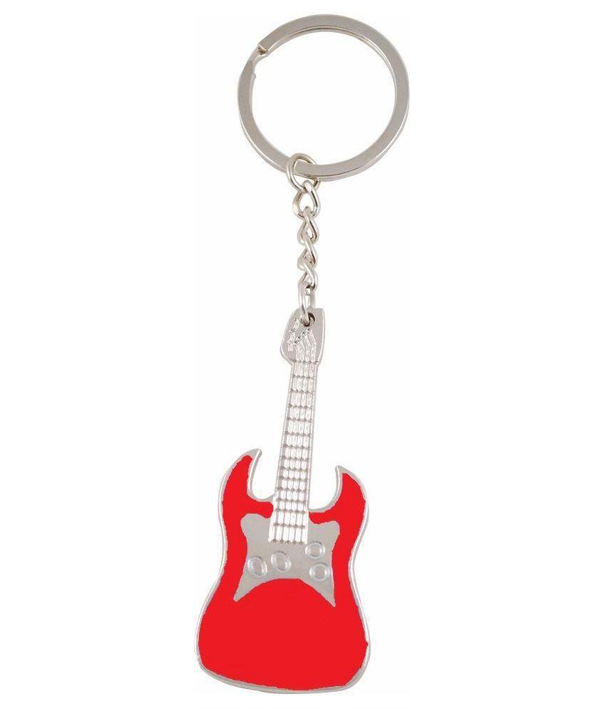 Aardee Red Metal Guitar Keychain