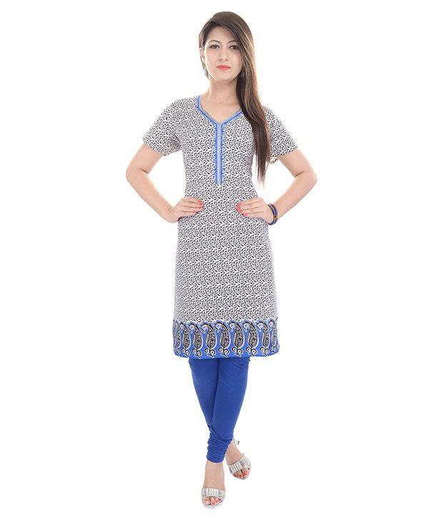 Aawari Multi Color Cotton Kurti