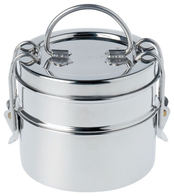 2299c9d81 King International Silver Stainless Steel 650ml Tiffin Box  Buy Online at Best  Price in India - Snapdeal