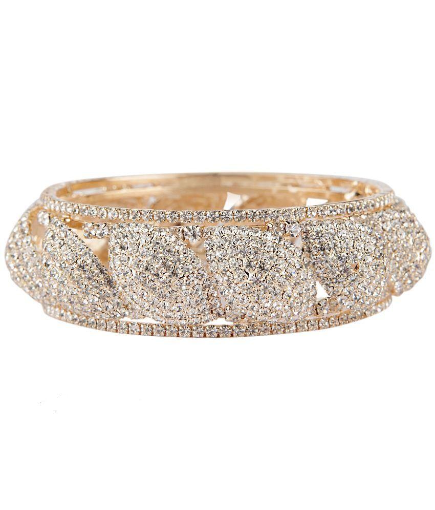 Bridesmaid White Alloy Gold Foil Kada