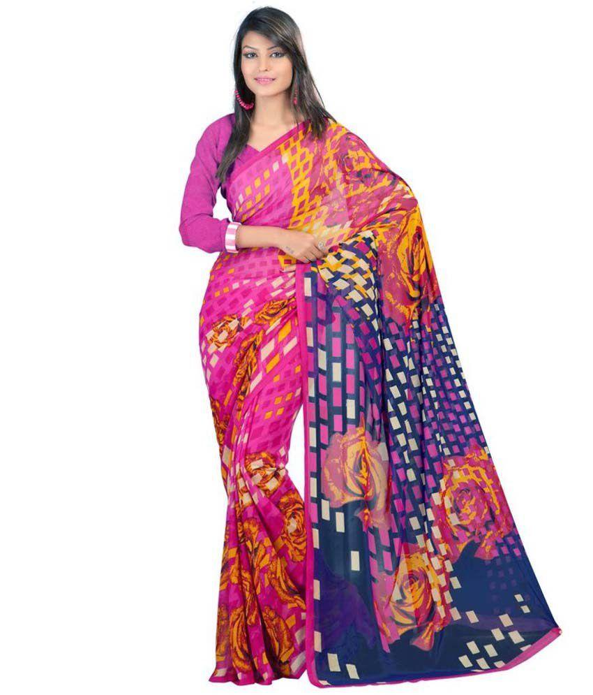 Indian Wear Online Multicoloured Art Silk Saree