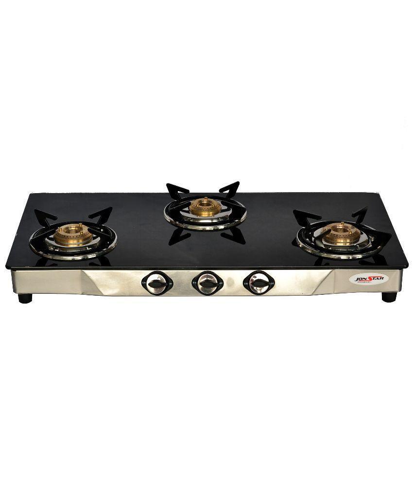 Jonstar JS-3GTXSB Gas Cooktop (3 Burner)