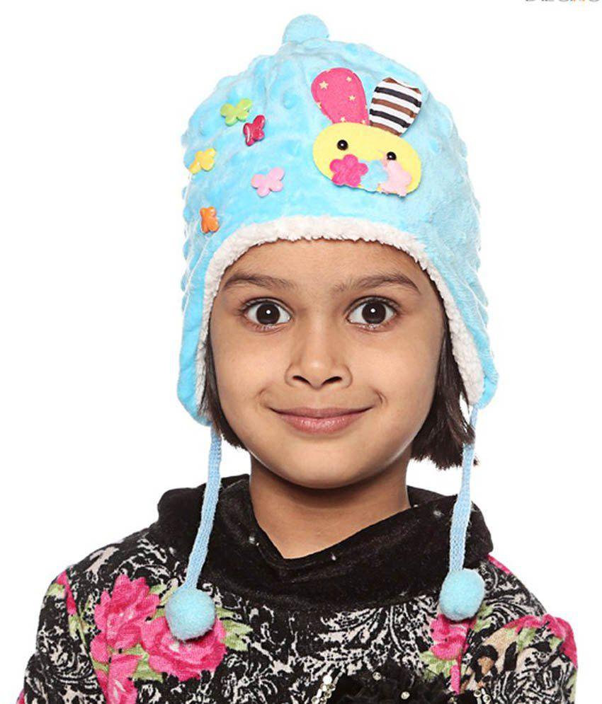 Bizarro.in Blue Woollen Caps For Kids