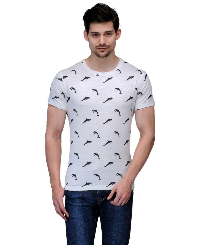 Wear Your Mind White Cotton T Shirt