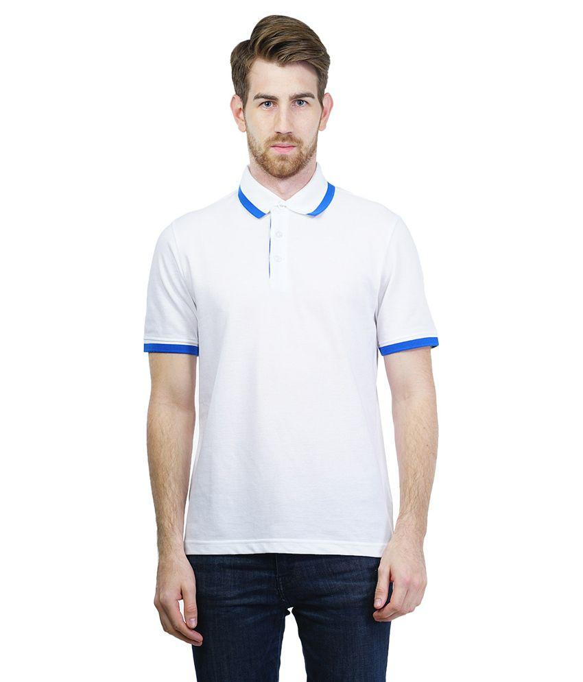 Puma White Half Sleeve Polo T-shirt