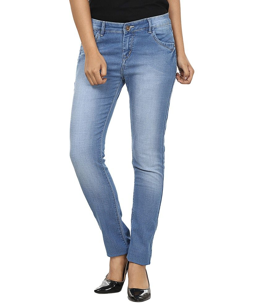 Fashion Cult Blue Denim Lycra Jeans