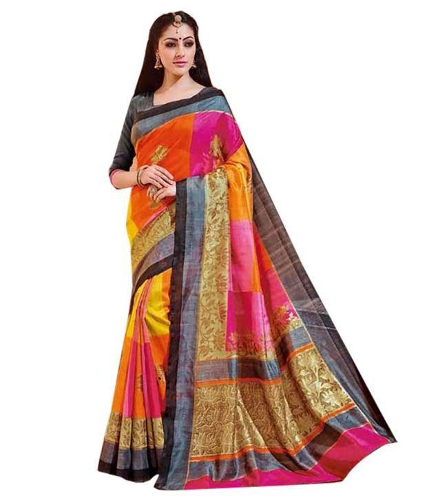 Ishin Gold Bhagalpuri Silk Saree