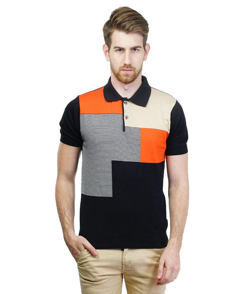 Kalt Multicolour Half Sleeves Polo T-shirt