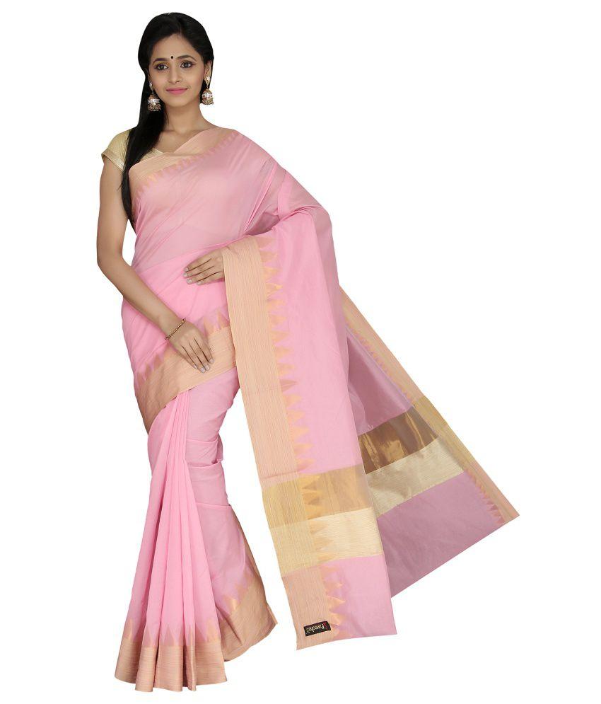 Pavecha's Pink Cotton Silk Saree