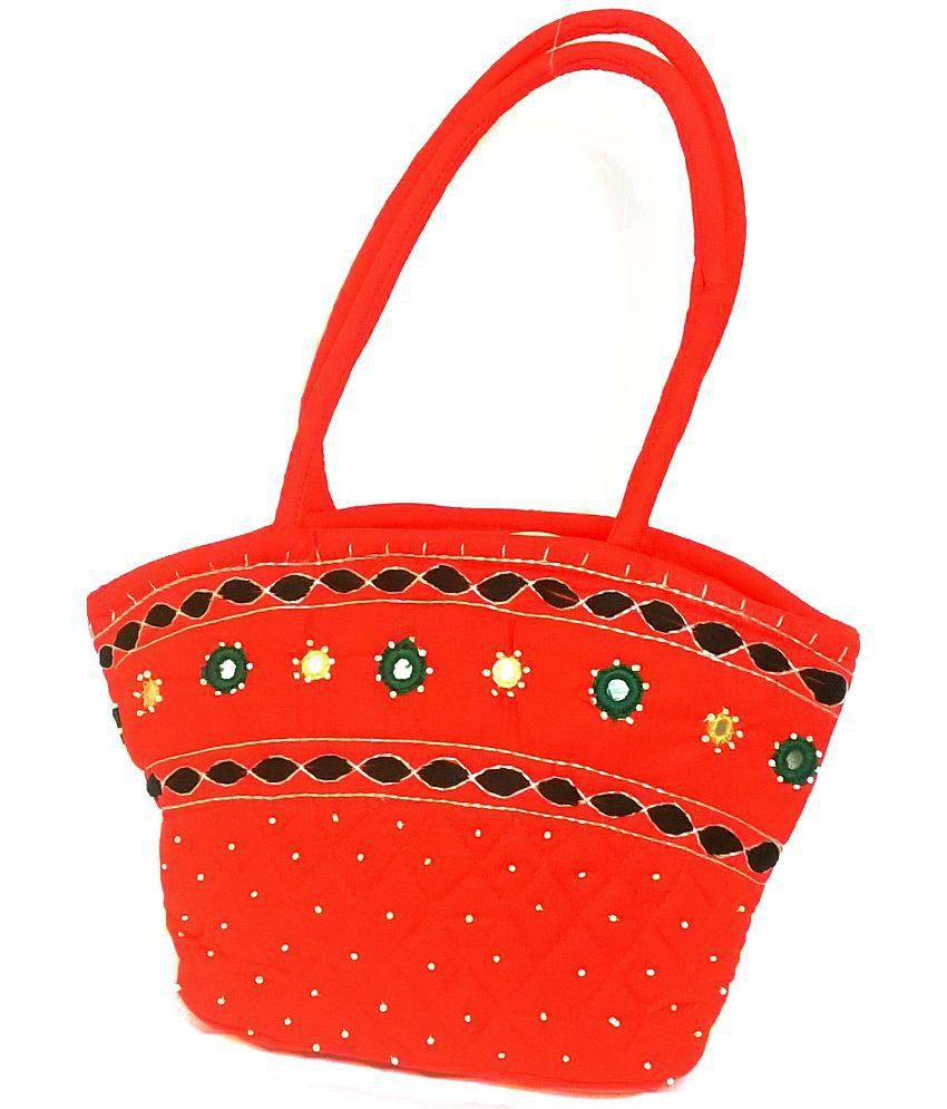 Rc Handicrafted Oval Cotton Tote Bag