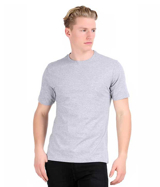 Skt Grey Cotton T-shirt