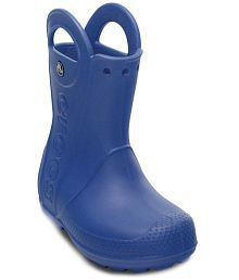 Crocs Roomy Fit Blue Boots For Kids