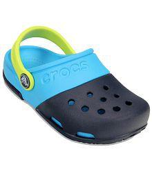 Crocs Roomy Fit Blue Clogs For Kids