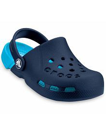 Crocs Roomy Fit Navy Clogs For Kids