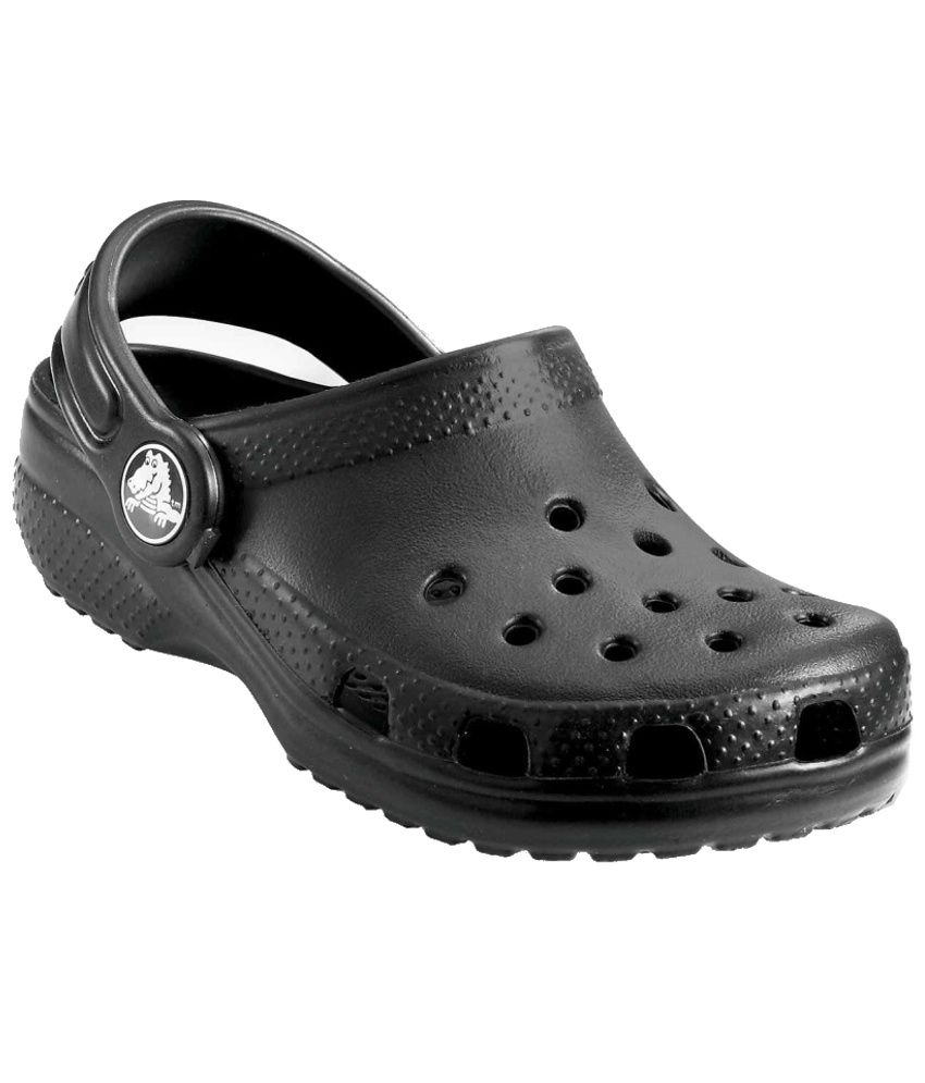 9a54e7f63abec Crocs Roomy Fit Black Clogs For Kids Price in India- Buy Crocs Roomy Fit  Black Clogs For Kids Online at Snapdeal