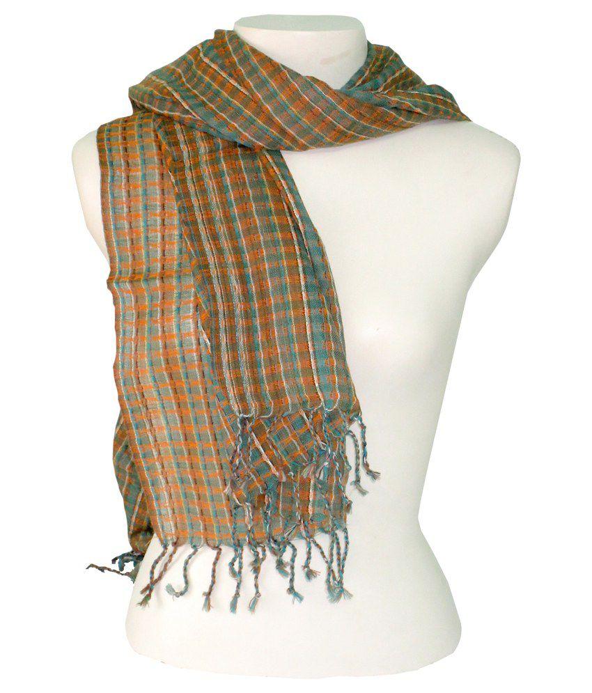 Dushaalaa Multicolor Woollen Scarf For Women