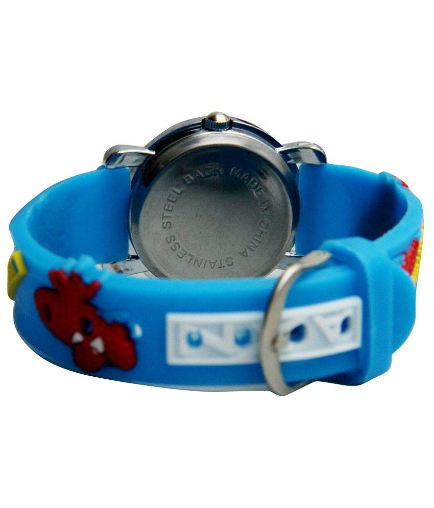 Spiderman Blue Silicon Analog Watch