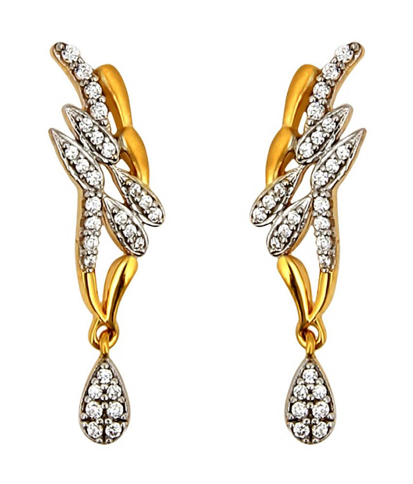 Jewel99 18kt Yellow Gold Drop Earrings