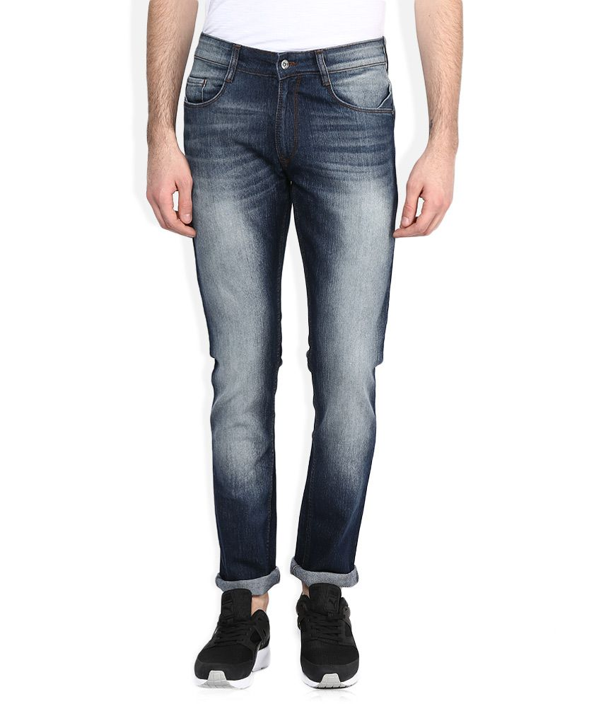 John Player Blue Light Wash Skinny Fit Jeans
