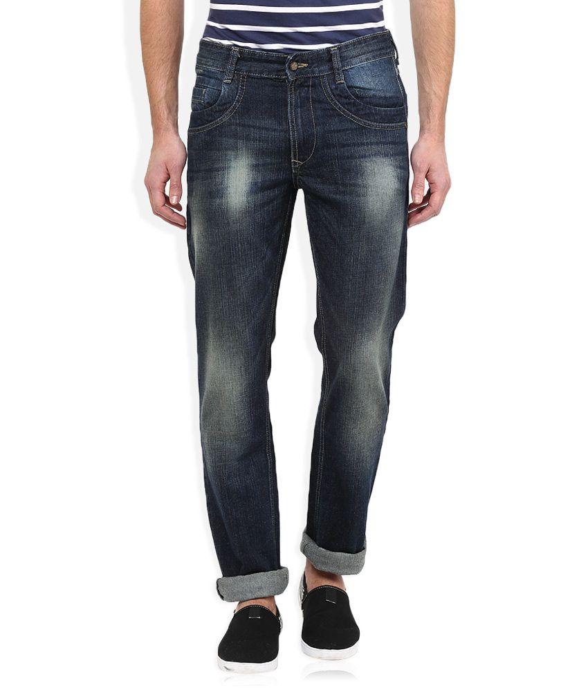 John Player Navy Light Wash Regular Fit Jeans