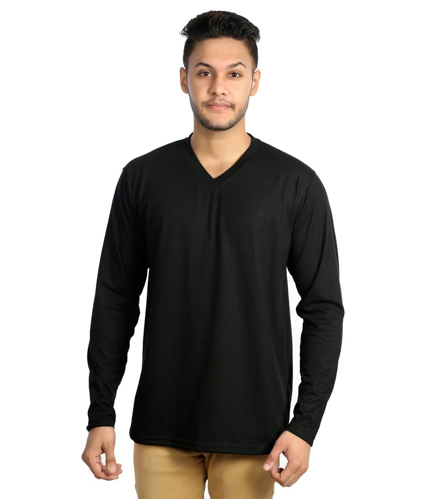 Zeki Black Cotton T-shirt