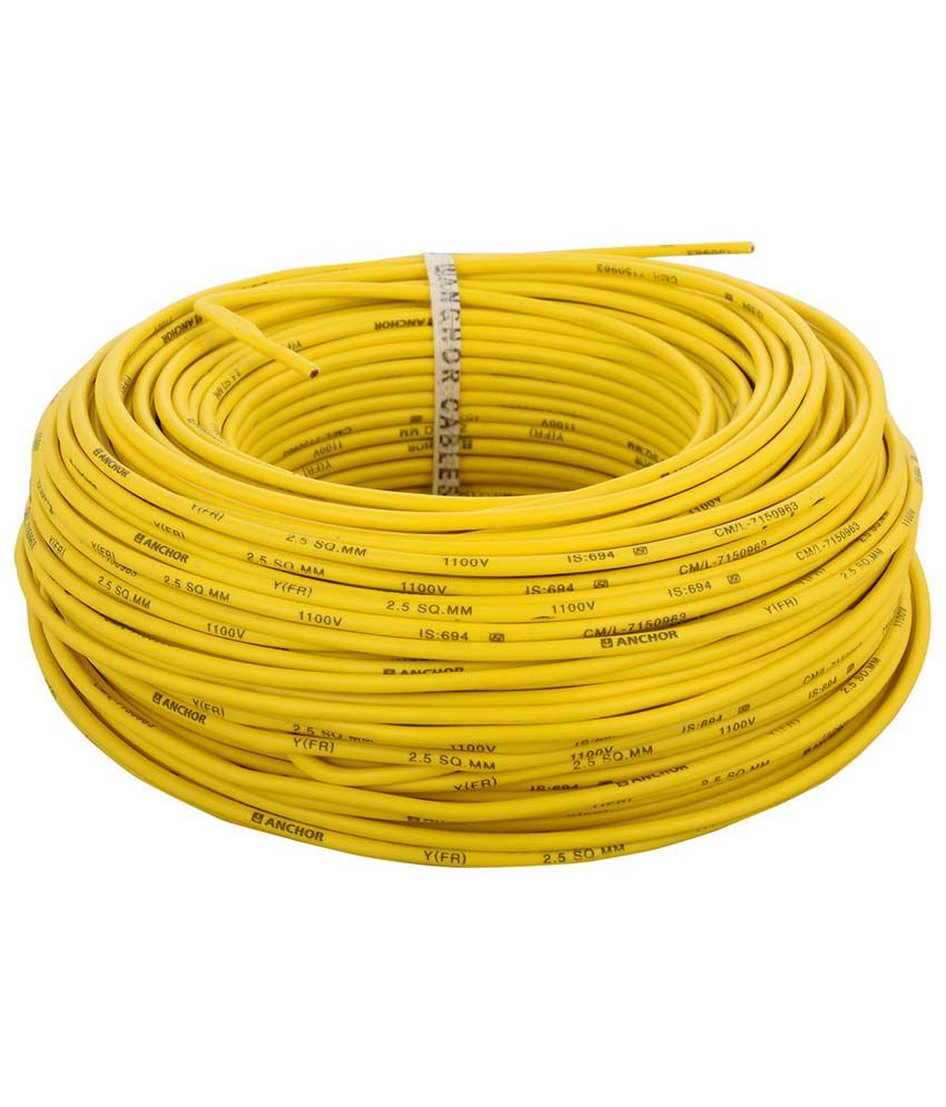 Buy Anchor Yellow Copper And Pvc House Wire - 2.5 Mm Online at Low ...
