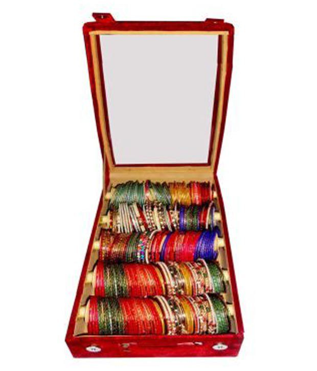 Atorakushon Combo Deal Of 5 Roll Rod Bangles Box With Clear Plastic 1 Saree Cover and 1 Blouse Cover