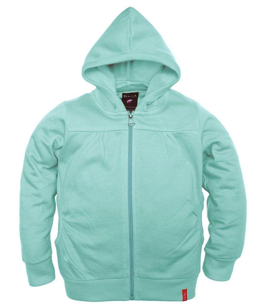Femea Turquoise Fleece Sweatshirt