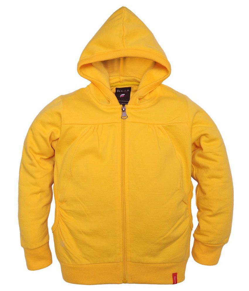 Femea Yellow Fleece Sweatshirt