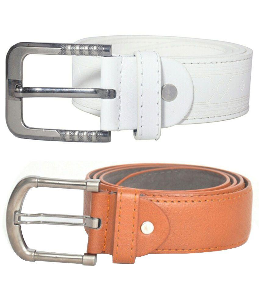 Scotlane White Casual Belt