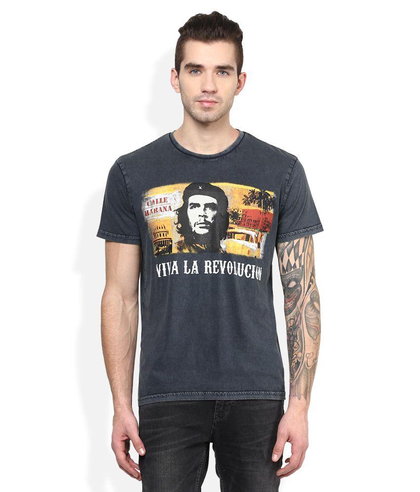 Che Guevara Grey Printed T-Shirt