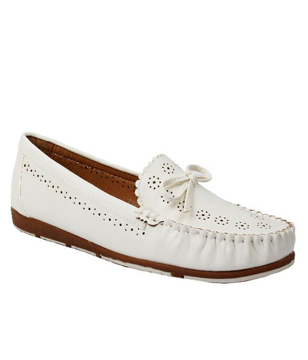 Foot Candy White Casual Shoes