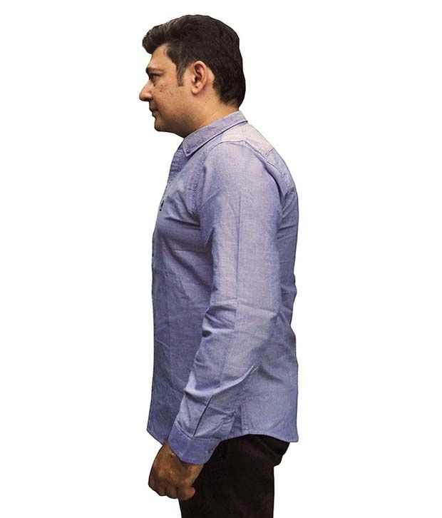 Massimo Dutti Blue Partywear Shirt - Buy Massimo Dutti Blue